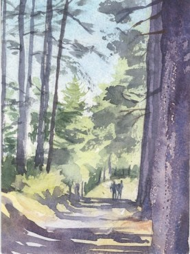 In the shadow of the pines by Susanne Taylor