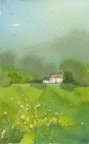 Green Landscape I by Caroline Furlong