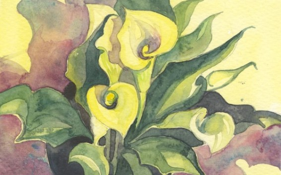 Yellow Lily by Helen Otter