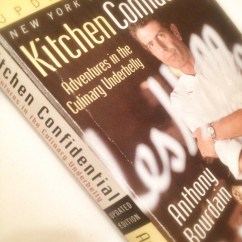 Kitchen Confidential Book Counter Height Table East Bay Dish Cook Club