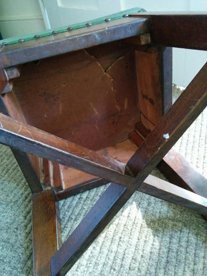 Kitchen stool - broken underneath
