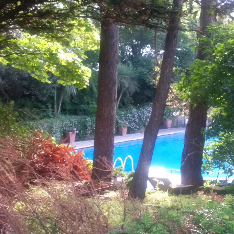 The outdoor pool at the Grand Hotel