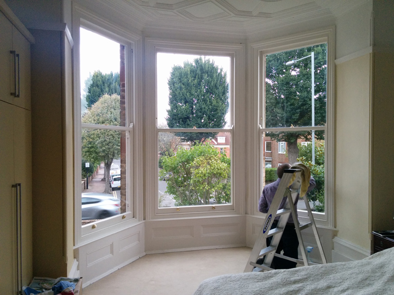 painting bedroom windows
