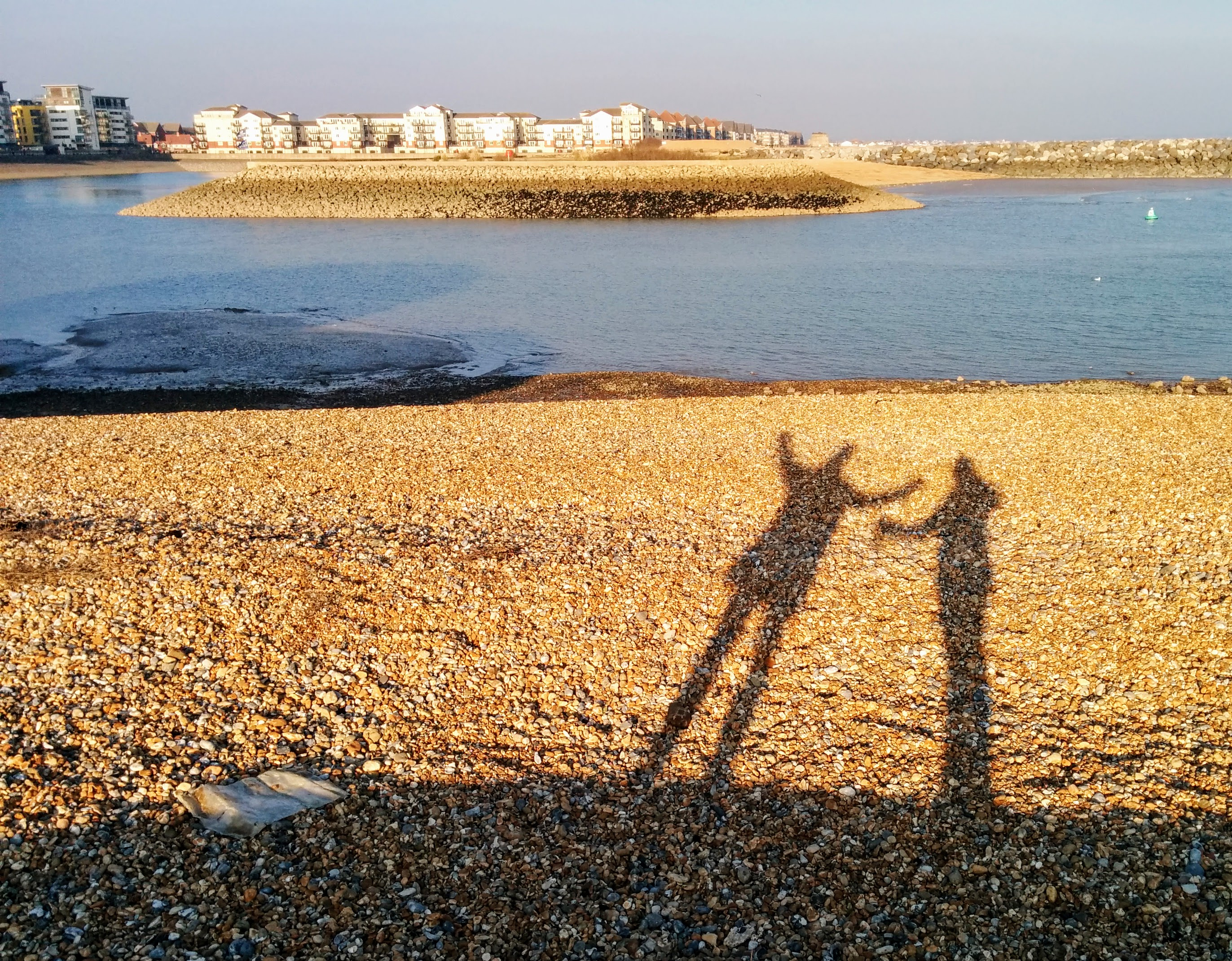 Shadow play at Sovereign Harbour