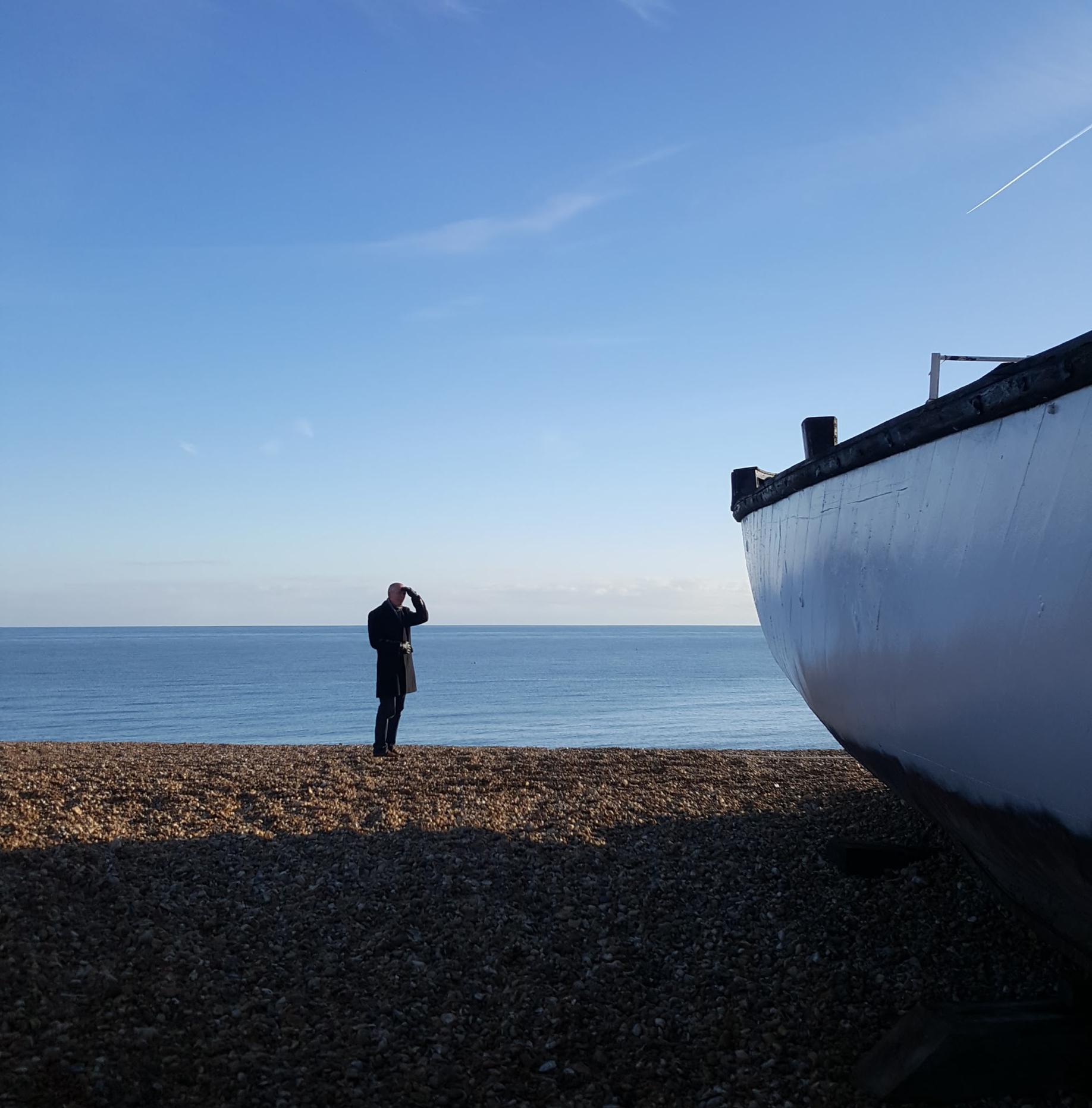 blue sky beach boat | An Eastbourne Diary