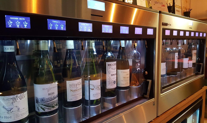 Tasting bottle at Levels in Eastbourne