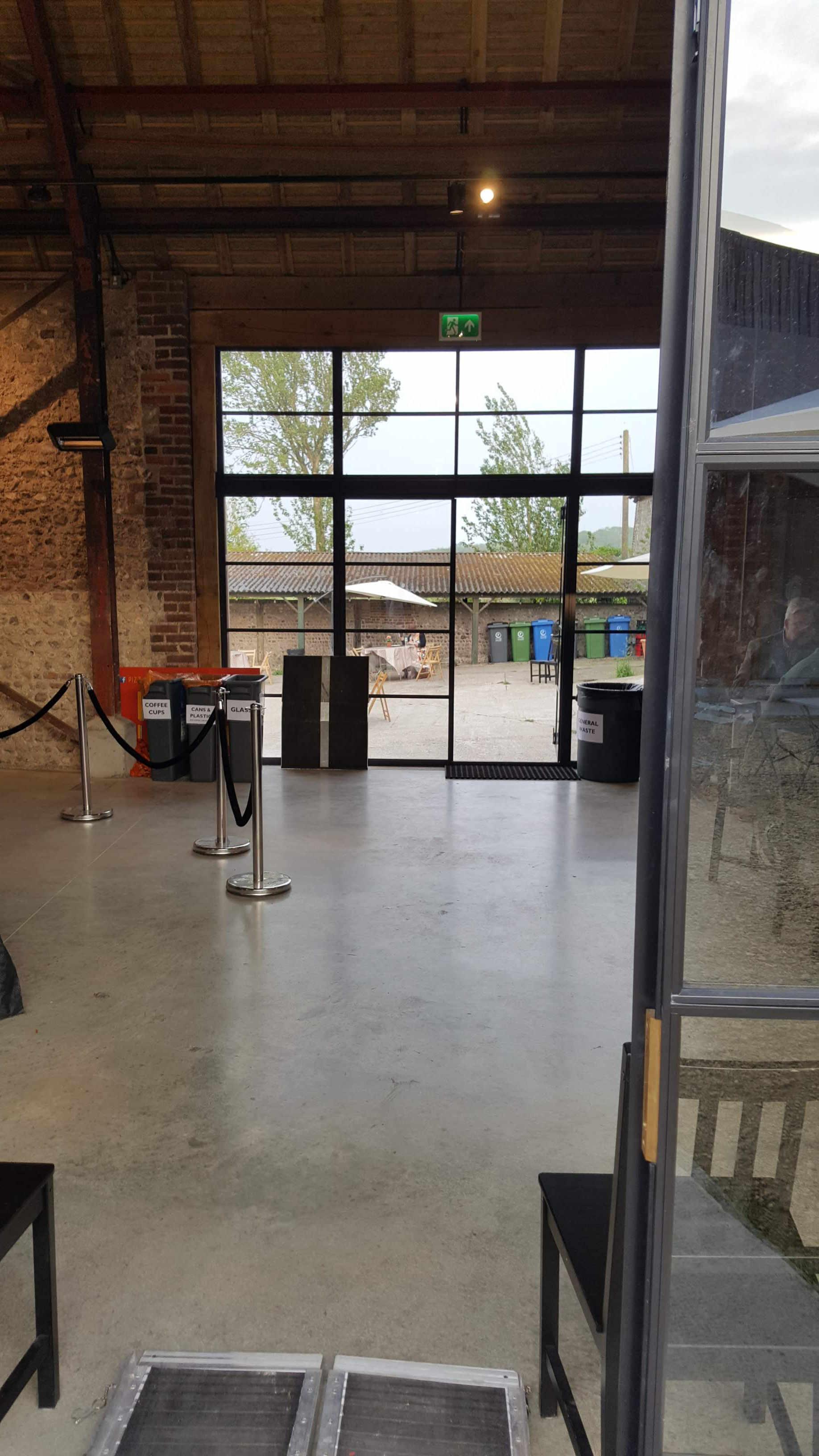 Charleston Barn interior -