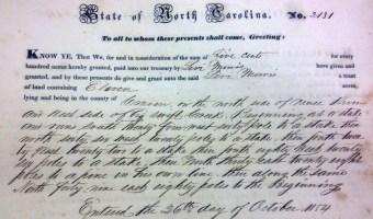 Some MORRIS Deeds of Craven County, NC