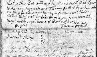 Will of Thomas Pollard (Craven County)