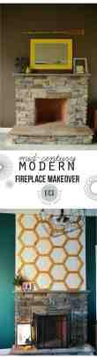 Mid Century Modern Fireplace Update East Coast Creative