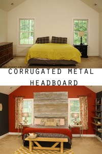 DIY Corrugated Metal Headboard