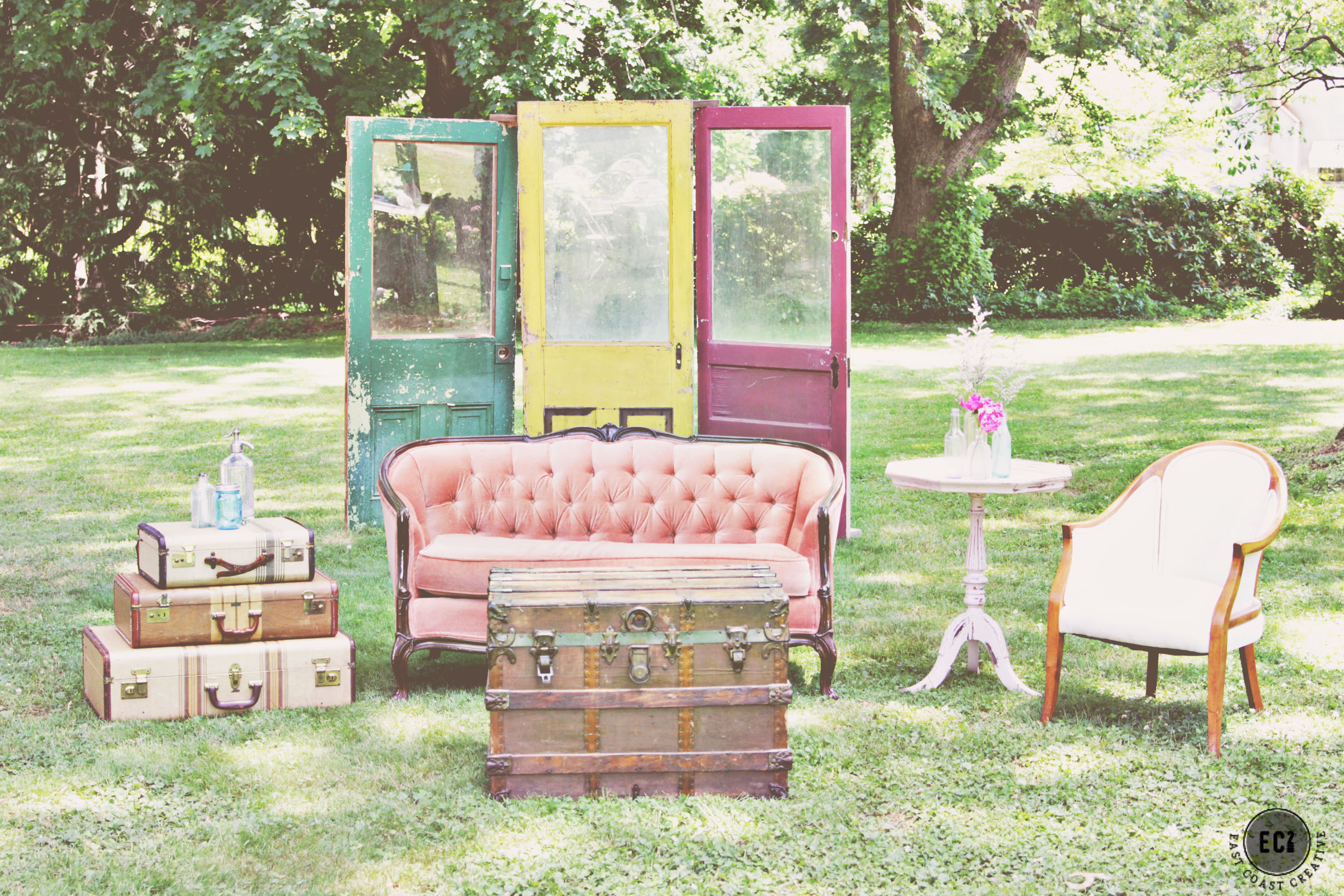 rent wedding tables and chairs wooden table for kids furniture rental  maggpie vintage rentals ec2