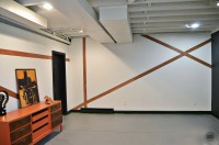 Modern Accent Wall using Vinyl Flooring- EC2 Apartment