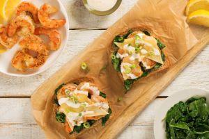 Open-Face Cajun Shrimp Sandwich