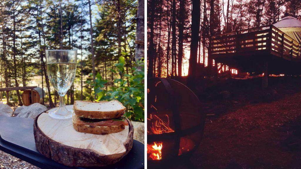SENSEA Nordic Spa Chester Nova Scotia delicious lunches and dream cocoons