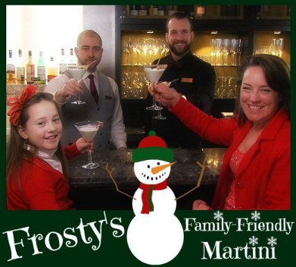 Frosty's S'More Martini mocktail