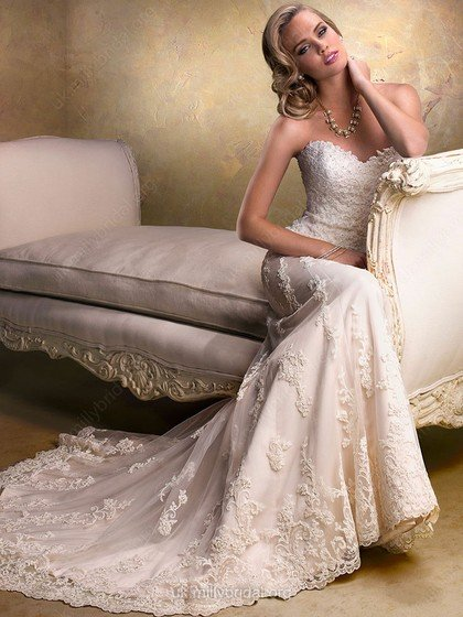 ivory, sweetheart, satin with lace and beaded detail, millybridal