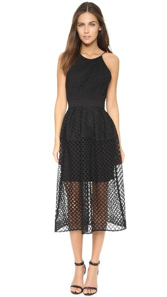 Nicholas Lattice Lace Tuck Ball Dress, Shophop, online boutique, designer clothes