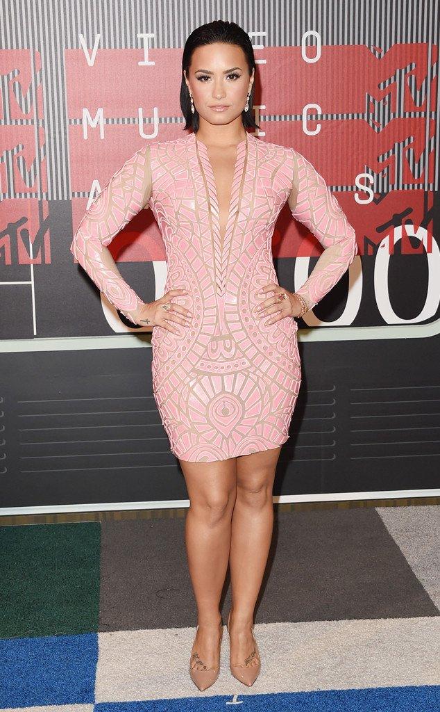 DEMI LOVATO,2015 MTV VMAs Red Carpet Best Dressed