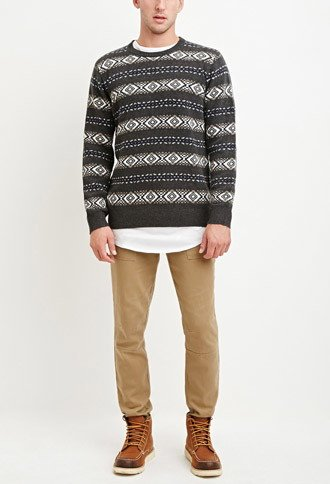 men's fashion, trendy, sweater, forever 21, Geo-Striped Sweater, oh man
