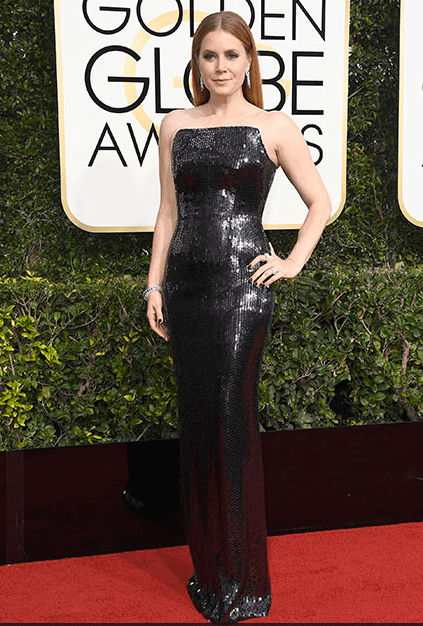 Amy Adams in Tom Ford, 2017 Golden Globe Awards Red Carpet 10 Best Dressed Celebs