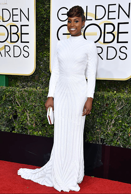 Issa Rae in Christian Siriano, 2017 Golden Globe Awards Red Carpet 10 Best Dressed Celebs