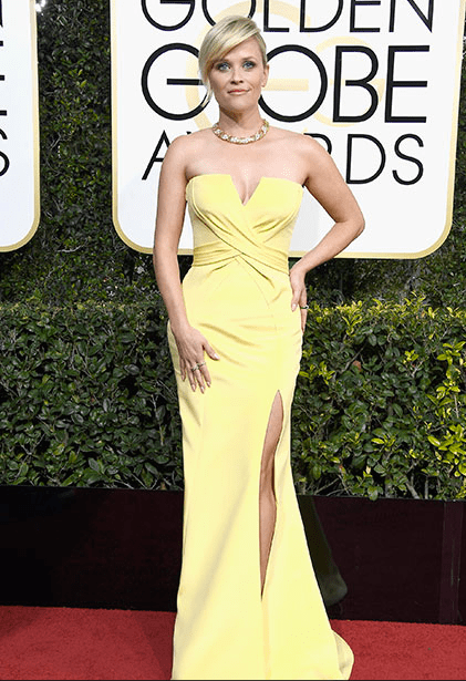 Reese Witherspoon, 2017 Golden Globe Awards Red Carpet 10 Best Dressed Celebs