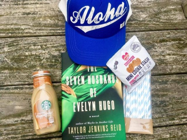 POPSUGAR Must Have, Subscription Box June 2017, Billabong, Aloha Forever Trucker Hat, Captain Blankenship, Mermaid Sea Salt Hair Spray, The Seven Husbands Of Evely Hugo, a novel by Taylor Jenkins Reid, Aloha Collection, Mid-size Ocean Coco Palms Pouch, NCLA, So Rich Mermaid Tears, Belgian Boys, Mini Cookie Stash, Meri Meri, Blue and White Party Stash, Starbucks Frappuccino, Coffee Drink