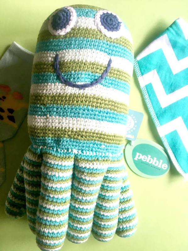 Baby Shower, handmade, knitted toys, Pebble, Octopus,