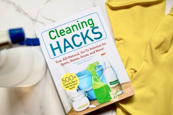 green diy cleaning, cleaning hacks, book, tips
