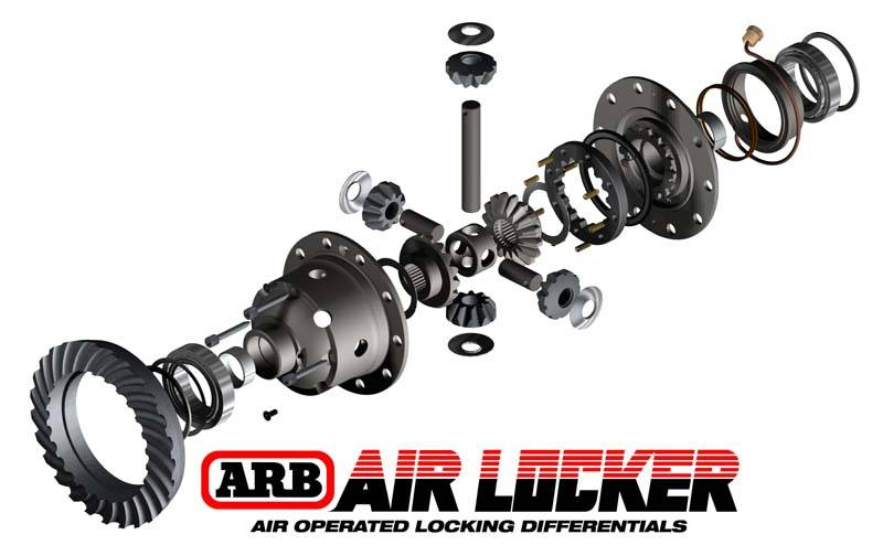 jeep front end parts diagram 2002 chevy venture radio wiring arb® dana 44 air locker - arb #rd116 diff 30 spline (3.92 & up)