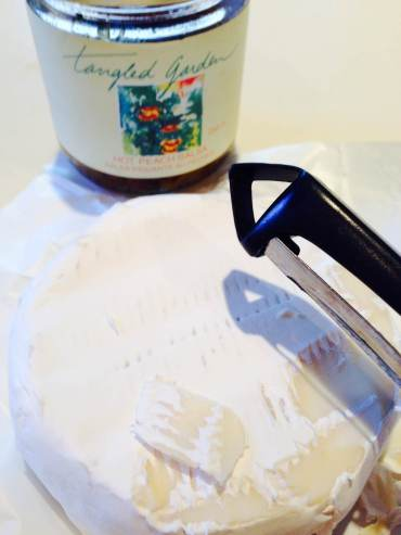 A peeler is an quick way to scrape the top.