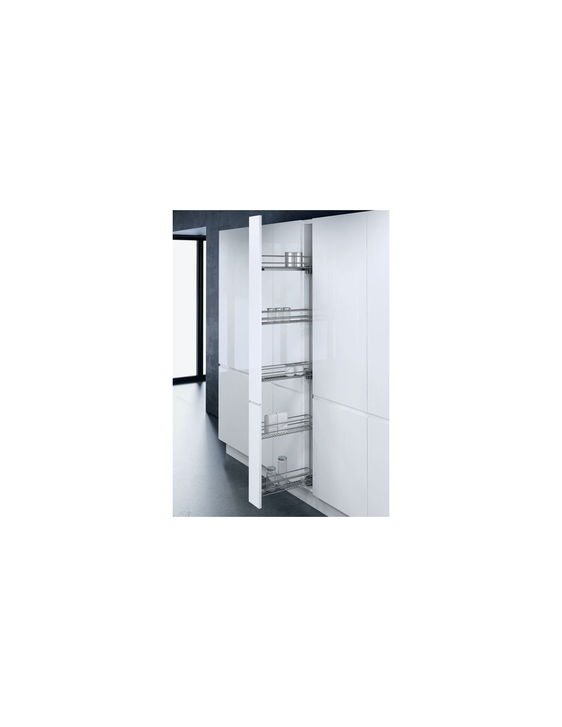 narrow kitchen base cabinet kids play accessories 150mm tall pull out larder system three