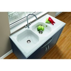Double Kitchen Sink Major Appliances Sit On Drainer Single Bowl Stainless Steel