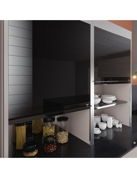 Rehau 600mm Wide Vetro Line Tambour door kits Kitchens