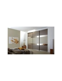 Volante Sliding Bedroom Doors Light Red Oak & Grey Metal ...