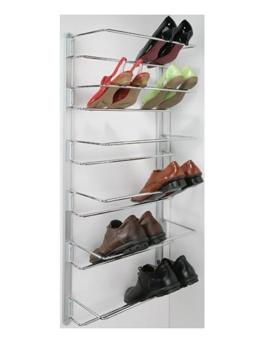 kitchen cabinet corner protectors lowes sinks stainless adjustable shoe rack 480 to 750mm chrome + wall rail ...
