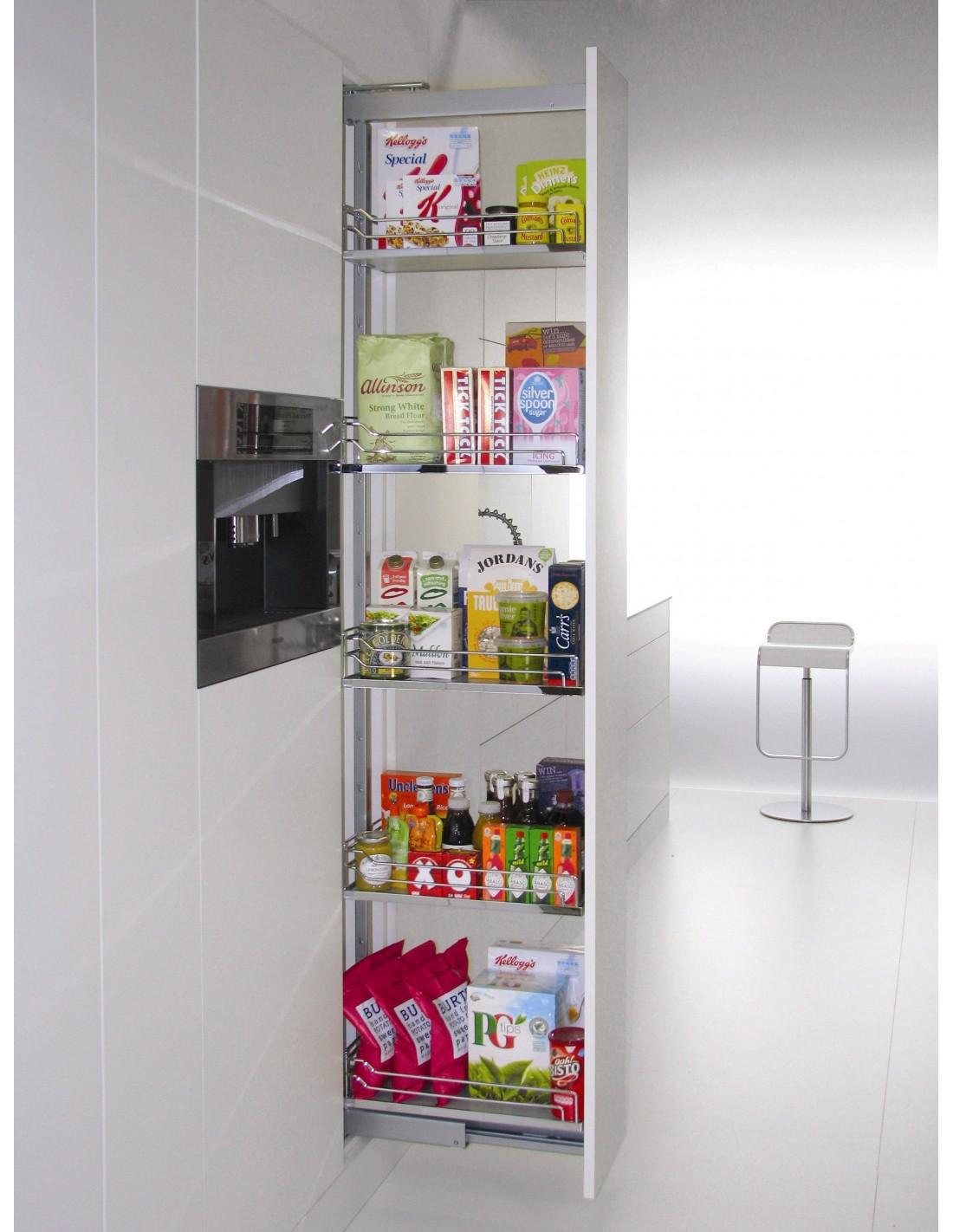 kitchen cabinet liners repair cabinets kalf500fesc 500mm kessebohmer tall larder arena baskets ...