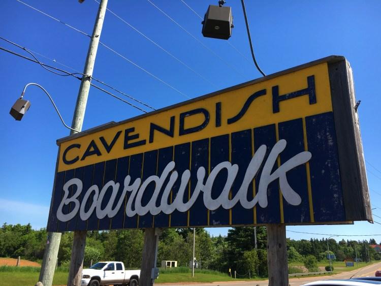Cavendish Boardwalk Sign