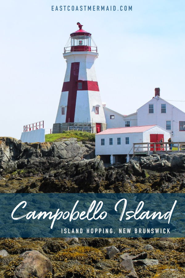 Campobello Island is nestled in Southern New Brunswick in the Bay of Fundy along the coast of Maine. Normally, it's accessible via a ferry between Deer Island and Campobello Island, but this summer, the ferry isn't operational, so a trip through the USA via Lubec, Maine is required.   #travelnewbrunswick #NewBrunswickTourism #TravelCanada #IslandHopping #EastCoastTravel