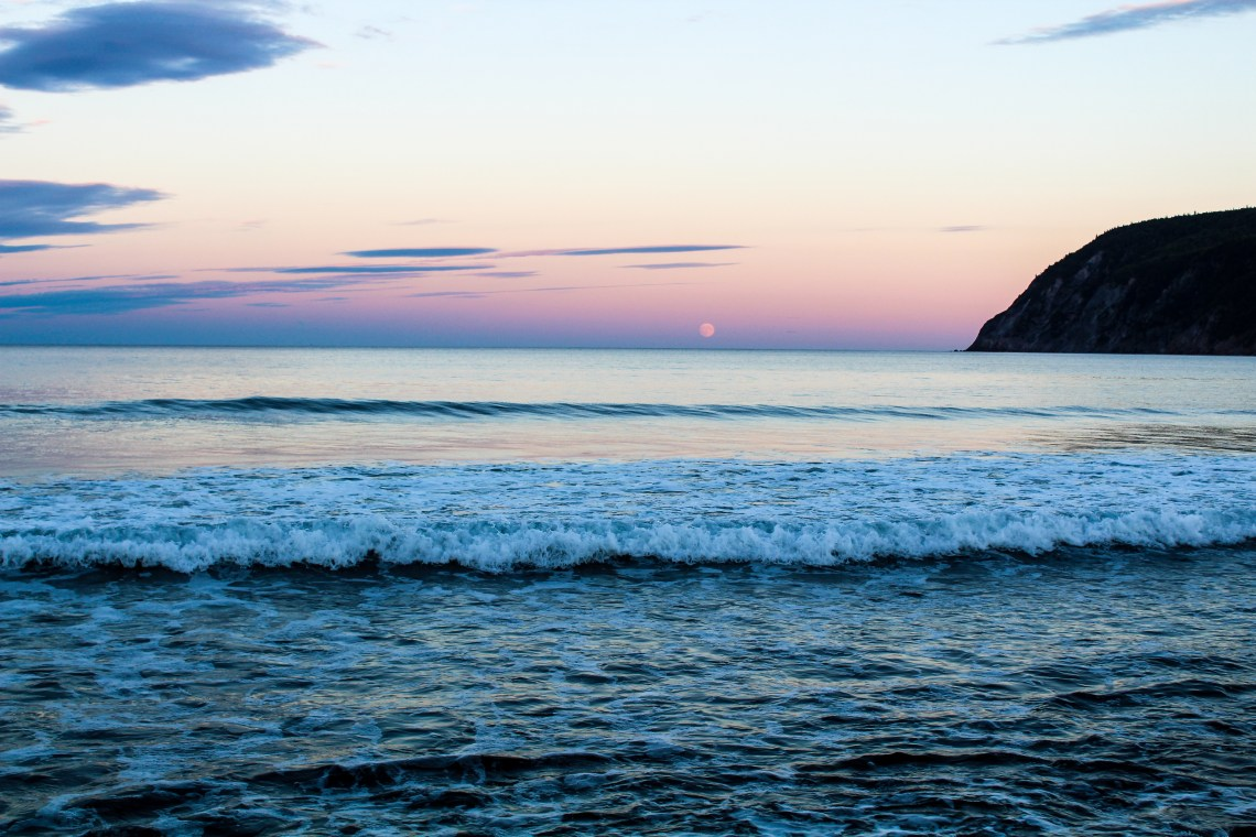Cabot Trail - Moon Rise Beach