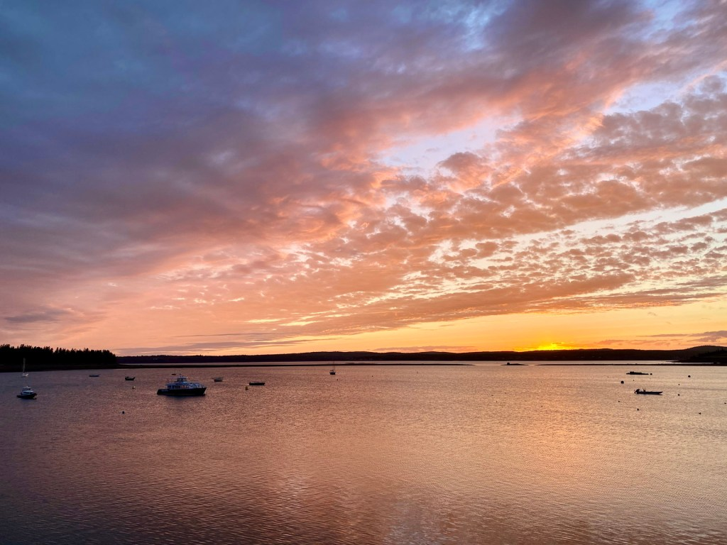 A Fall Getaway to St. Andrews by the Sea, New Brunswick sunset at the warf