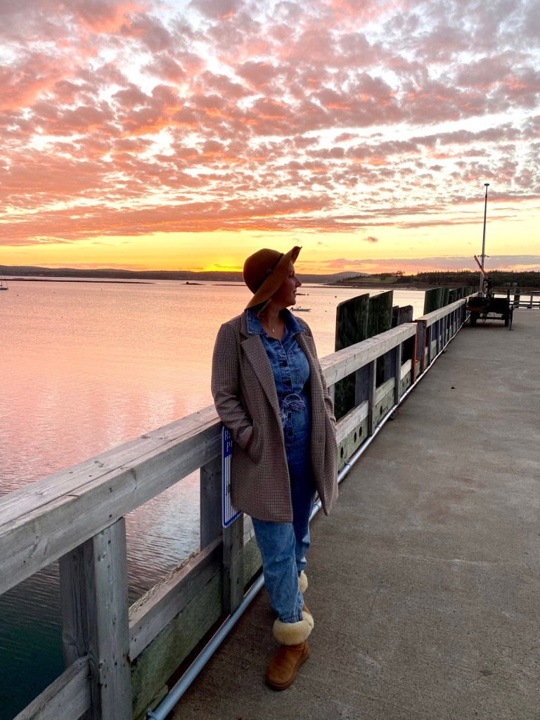 A Fall Getaway to St. Andrews by the Sea, New Brunswick the warf sunset