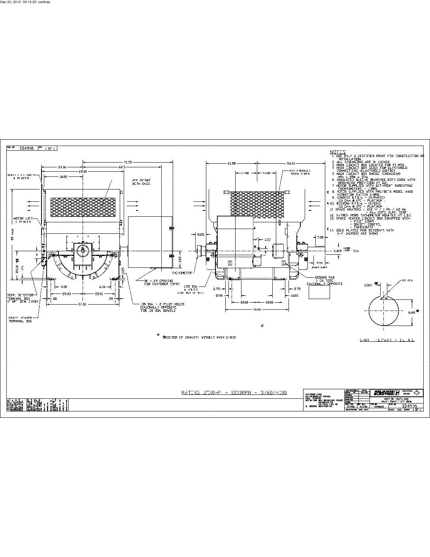 2500 HP, 1200 RPM, REL, FRAME 9240, SBWPI, 4000V, (2