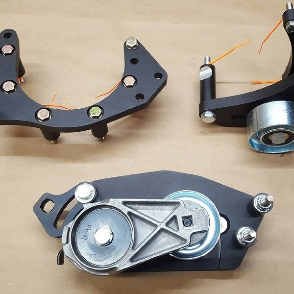ECS C7 Kit Brackets and Tensioner Parts