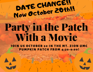 Party in the Patch postponed, Mt. Zion UMC