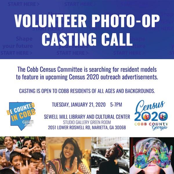 Cobb Census ad casting call