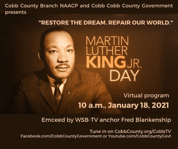 Cobb MLK virtual event