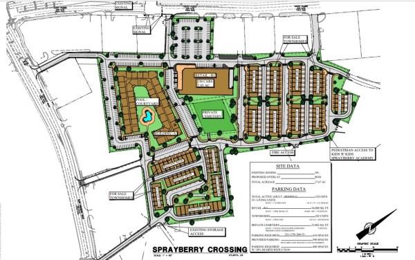 Sprayberry Crossing site plan