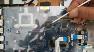 дефектирал чип на лаптоп леново